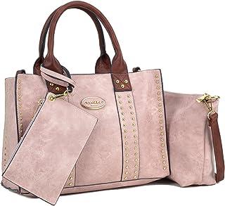 bc7d9332ef Women Designer Vegan Leather Handbags Fashion Satchel Bags Shoulder Purses  Top Handle Work Bags