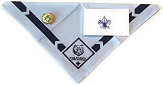 Official BSA Uniform Cub Scout Neckerchief with Slide Apparel