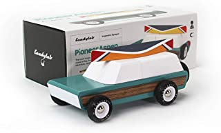 Candylab Toys - Pioneer Aspen Wooden Car with Canoe - Modern Vintage Style - Solid Beech Wood