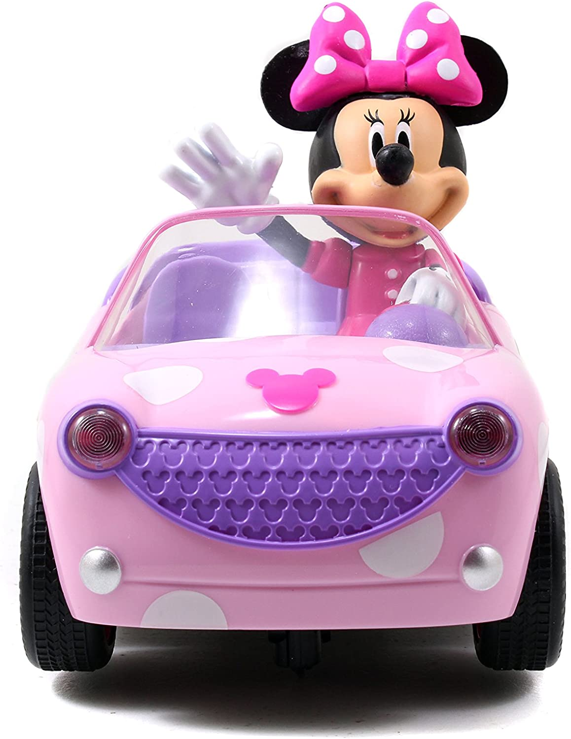 Disney Junior Minnie Mouse Roadster RC Car with Polka Dots, 27 MHz, Pink...