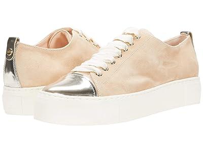AGL Cap Toe Sneaker (Tan/Gold) Women