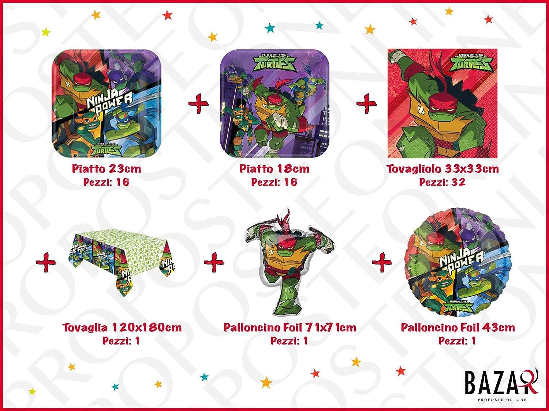 Tartarughe Ninja Kit per Festa e Party Articoli 100% Ufficiali Compleanno per Bambini 3488