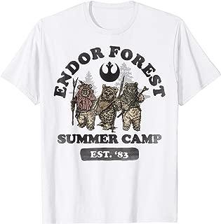 Star Wars Endor Forest Summer Camp Graphic T-Shirt Z1