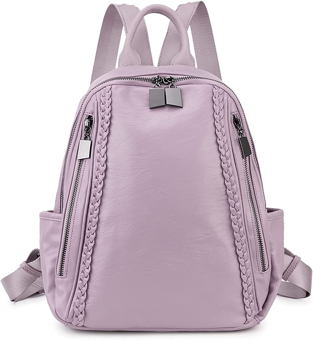 Women Backpack Purse RAVUO Fashion PU for Max 64% OFF Bag Shoulder L Max 57% OFF Leather