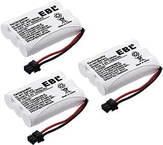 EBL BT-446 Rechargeable Cordless Phone Replacement Batteries for Uniden BT-446, BT-1005 BT1005, 3.6V 1000mAh NiMH (Pack of 3)