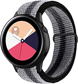 Stan Lee Band Compatible with Samsung Galaxy Watch Active/Active 2 44mm 40mm/Galaxy Watch 42mm, 20mm Nylon Breathable Repl...