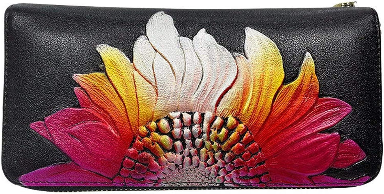Surnoy Meine Meine Meine Hand - Tasche, Leder handbemalten prägung lederbrieftasche horizontale 90 Prozent ab auf schwarz B07H7ZQTRS d06067