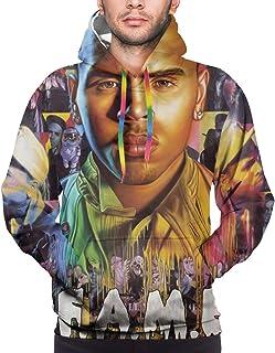 KarleDeal Chris Brown F.A.M.E. Man Fashion Hoodie Long Sleeve Sweatshirt Outdoor