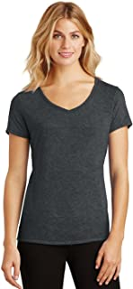 District Made Women's Perfect Tri V-Neck Tee DM1350L