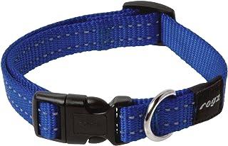 Rogz Reflective Dog Collar, Blue Medium