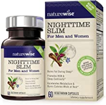 NatureWise Nighttime Slim with Capsimax   Burn 116 Calorie While You Sleep   Promotes a Restful Sleep, Burns Fat, Reduces Hunger   Non-GMO, Vegetarian, Gluten Free [1 Month Supply - 60 Count]