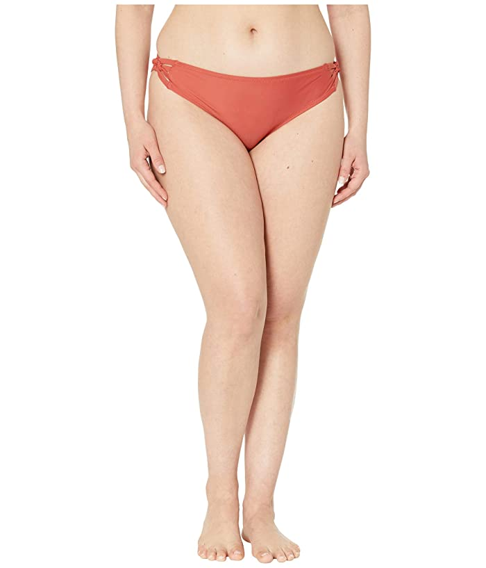 Volcom Plus Size Simply Solid Full (Burnt Red) Women