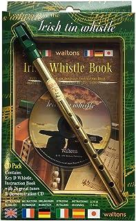 comprar comparacion Waltons 08AWAL-1514 Irish Tin Whistle Pack - Silbato irlandés de laton en llave D con CD y libro de instrucciones