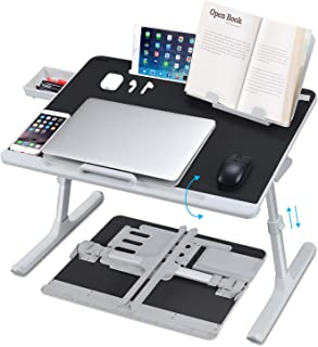 Laptop Desk for Bed, NEARPOW XXL Bed Table Bed Desk for Laptop and Writing, Adjustable Computer Tray Laptop Stand for Bed ...