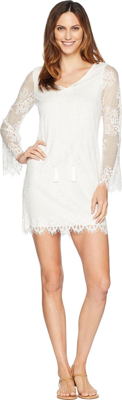 American pink Women's Sandra Long Sleeve Lace Dress Ivory 12
