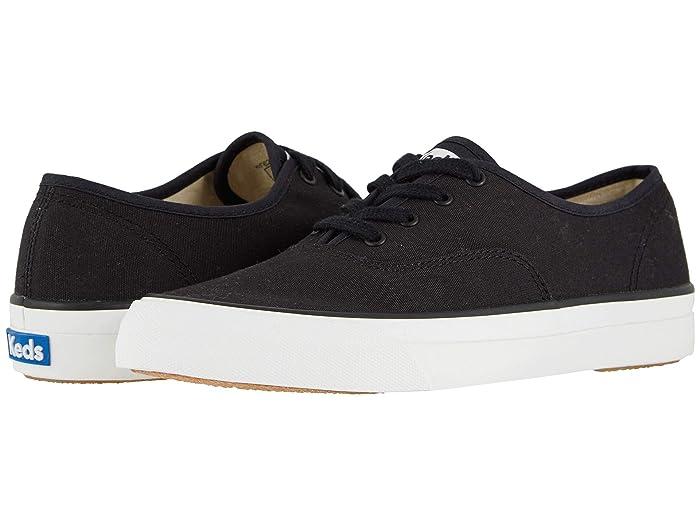 70s Shoes, Platforms, Boots, Heels Keds Surfer Canvas Black Womens Shoes $49.95 AT vintagedancer.com