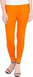 American-Elm Women's Ankle length Cotton Viscose Legging- Orange