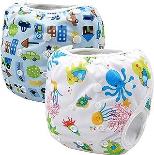 comprar comparacion Storeofbaby Pañales de natación reutilizables nappy pañales de baño para niños niñas 0-3 años 2 paquete