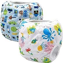 Storeofbaby Pañales de natación reutilizables nappy pañales de baño para niños niñas 0-3 años 2 paquete