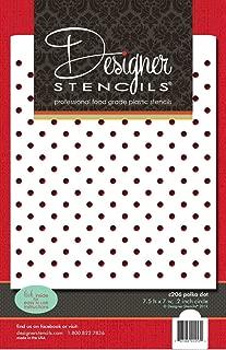 Designer Pochoirs C747/Petite Cristal Flocons de Neige 2/Cookie Pochoirs Beige//Semi-Transparent