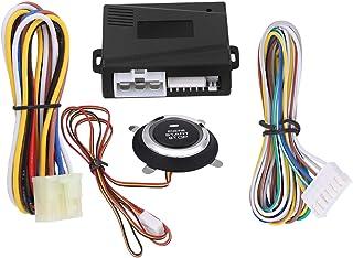 Akozon Car Alarm System 12V Universal Car Engine Push Start Stop Button Ignition Remote Starter photo