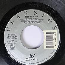 Billy Idol 45 RPM Rebel Yell / Blue Highway