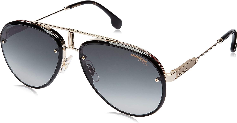 Carrera Glory Sunglasses GLORYS-0RHL-9O-5817 - Gold/Black Frame, Dark Gray Gradient Lenses, Lens