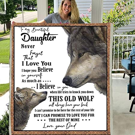 """Details about  /Rose Lover To My Daughter Never Forget That You Are Alone Fleece Blanket 30/""""-80/"""""""