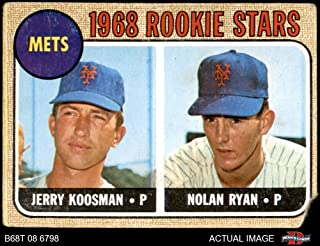 1968 Topps # 177 A Mets Rookies Nolan Ryan/Jerry Koosman New York Mets (Baseball Card) (Back is Gold in Color) Dean's Cards AUTHENTIC Mets