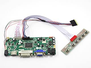 FidgetKute New HDMI + DVI + VGA LCD Controller Board Monitor kit for 15.6 inch N156B6-L0B Show One Size