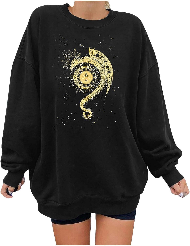 Tenworld B Christian Shirts for Women Moon Graph Ultra-Cheap Deals Los Angeles Mall Sleeve Sun Long