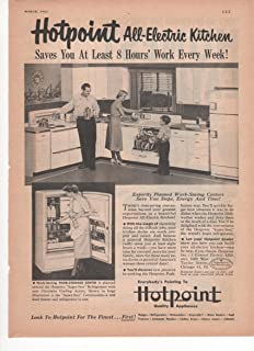 Hotpoint Quality All Electric Kitchen Appliances Refrigerator Dishwasher Stove 1951 Farm Antique Advertisement