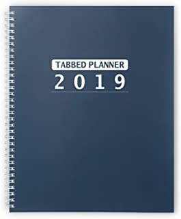 Shiplies 2019 Weekly & Monthly Planner with Monthly Tabs and Note Pages 8.5'' x 11''