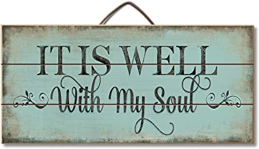 Highland Woodcrafters Its All Well With My Soul Reclaimed Wood Pallet Sign - Made in USA!