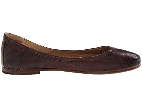 Frye Carson Ballet Dark Brown Antique Soft Full Grain Factory Outlet Online 100% Guaranteed For Sale Discount New Arrival For Nice For Sale Sale Low Shipping Fee aaWpUoz