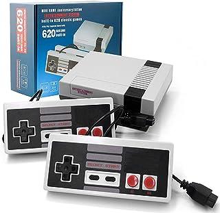 Classic Mini Retro Consoles Game، AV Output 8-bit Video Video ساخته شده در 620 بازی با 2 کنترلر کلاسیک