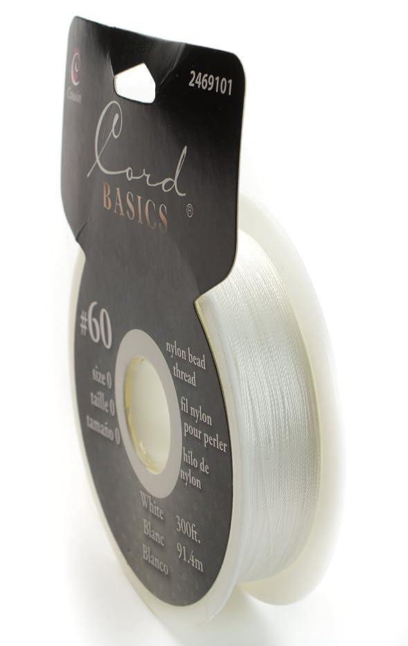 Cousin 300ft White Nylon Bead Thread #60