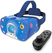 DESTEK VR Headset for Kids, 110°FOV Anti-Blue Light Eye Protected HD Virtual Reality Headset w/Bluetooth Controller for iP...
