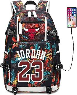 Jugador de Baloncesto Estrella Bulls Jordan Mochila multifunción Estudiante de Viaje Mochila para fanáticos para Hombres Mujeres
