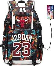 FANwenfeng Basketball Player Star Jordan Number 23 Multifunction Backpack Travel Student Backpack Fans Bookbag for Men Women