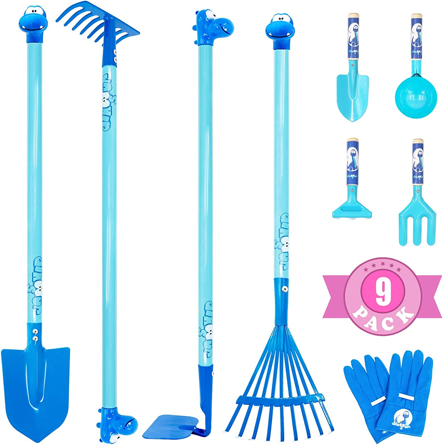 Colwelt 9PCS Year-end annual account Kids Garden wholesale Tool Tall wit Set