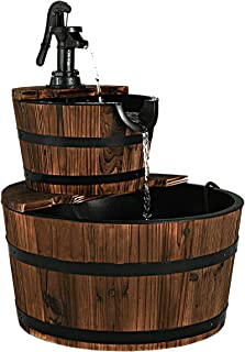 wine barrel fountain waterfall
