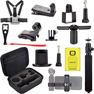 Accessories kit for Dji OSMO Pocket, Handheld Mount Adapter Tripod Carrying Case Expansion Phone Bracket Screen Protector for Osmo Pocket