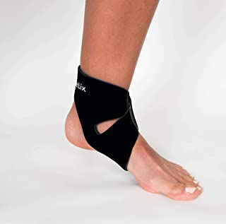 body helix Ankle Compression Sleeve - X-Fit Ankle Helix Wrap Support Brace - Sleeves For Ligaments, Tendons, Soft Tissues, Sprained Ankle, Injury Recovery - Supports Young Athletes, Adults, Men, Women