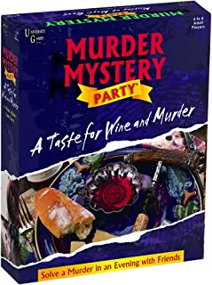 University Games 33202 Murder Mystery Party Games- A Taste for Wine and Murder