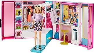 Barbie Dream Closet with Blonde Barbie Doll & 25+ Pieces,...