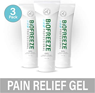Biofreeze Professional Pain Relief Gel, 4 oz. Tube, Green, Pack of 3