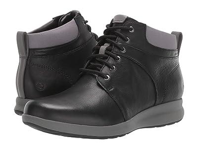 Clarks Un Adorn Walk (Black Leather) Women