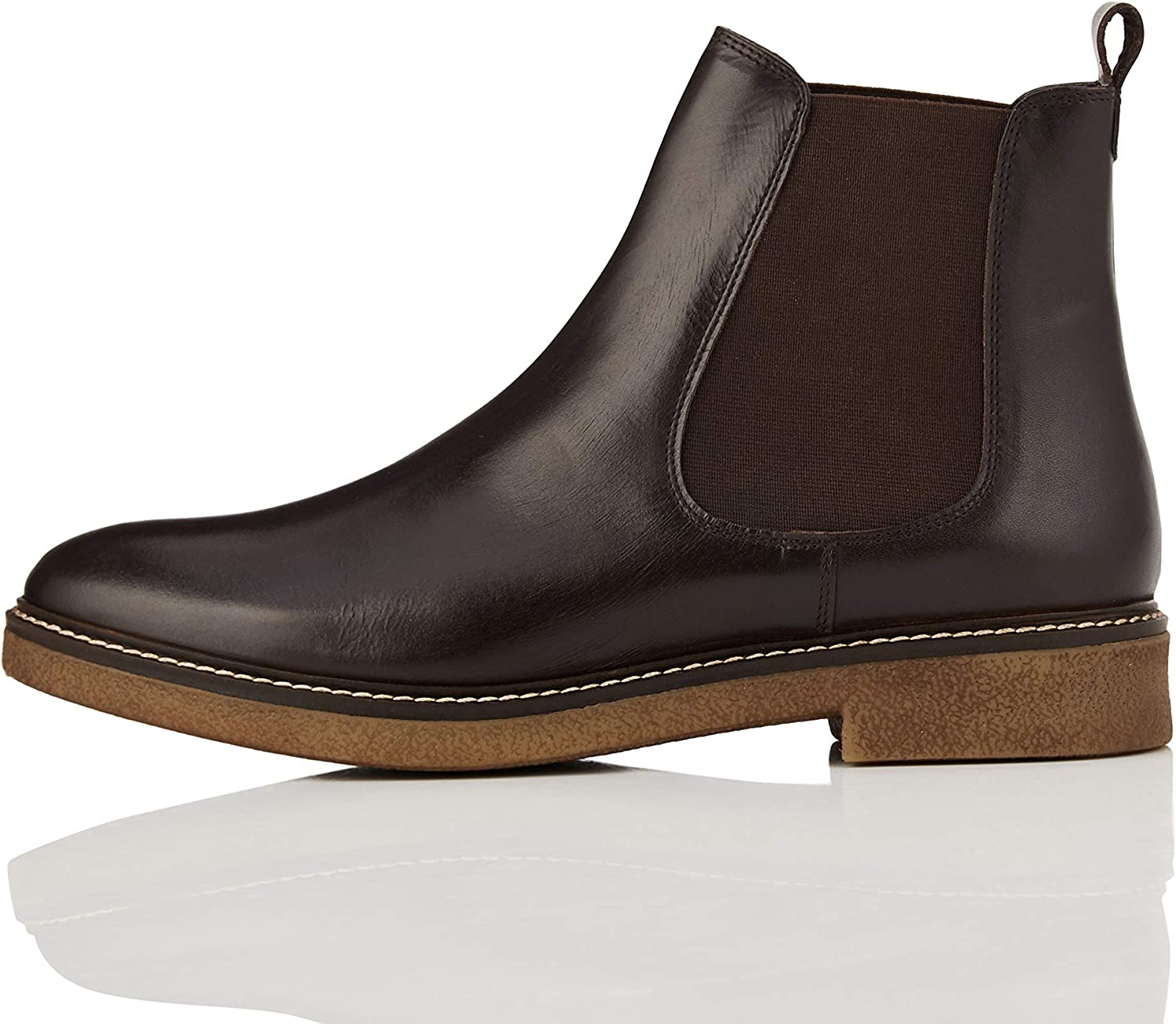 Find. Leather Gumsole Damen Chelsea Stiefel