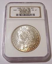 1887 Morgan Silver VAM-12(A) TOP-100 DDO Alligator Eye R5 Dollar MS61 NGC